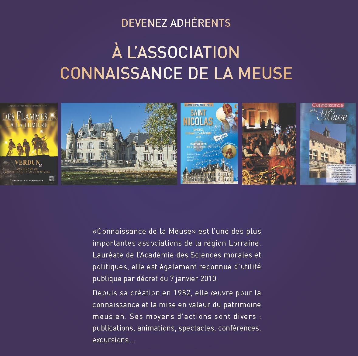 Devenez adhérents à l'association Connaissance de la Meuse