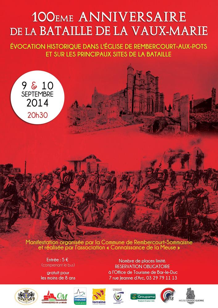 Evocation historique de la Bataille de la Vaux-Marie, au JT TF1, le 12 sept.