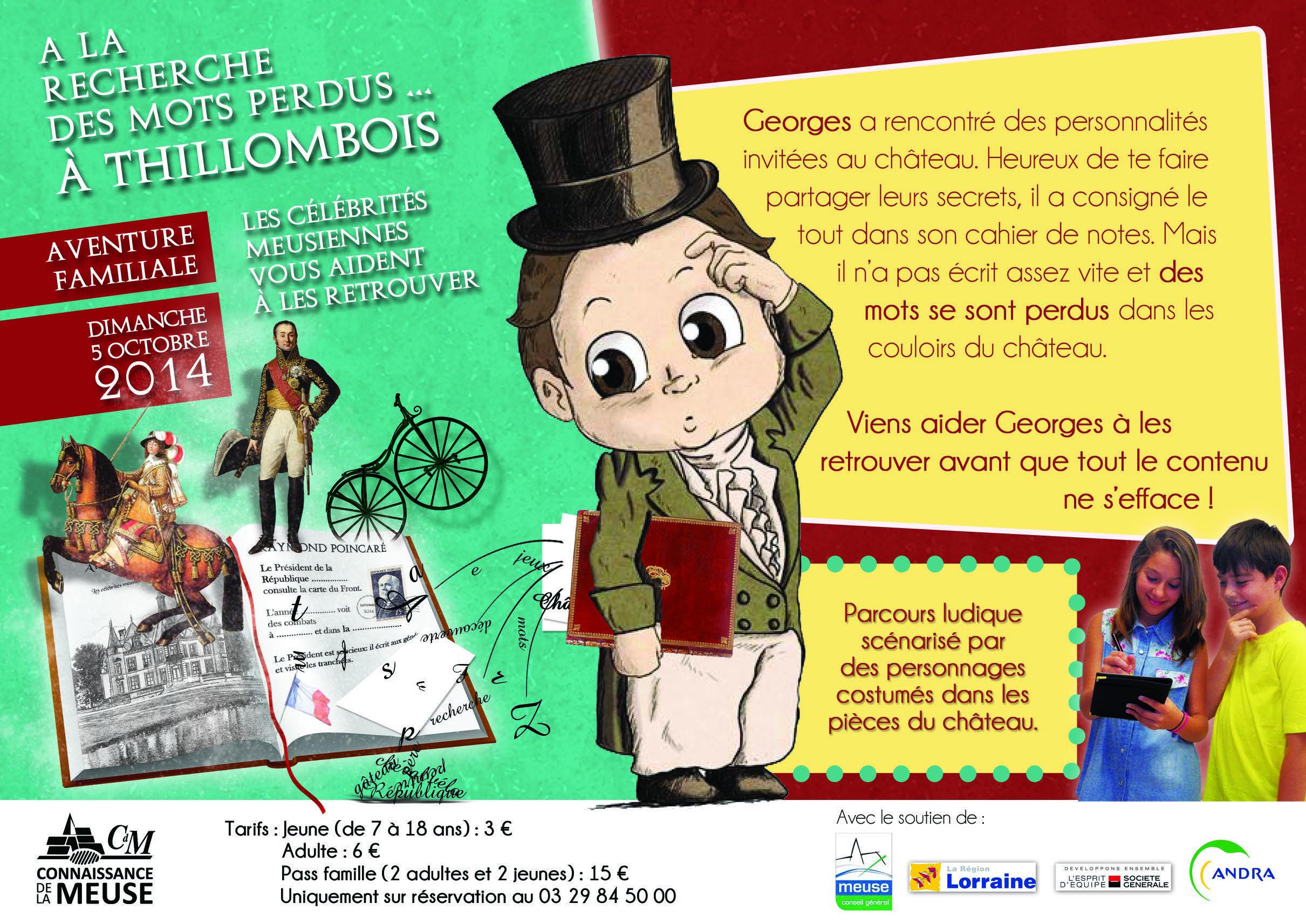 Succès pour le parcours ludique au château de Thillombois, dimanche 5 octobre 2014