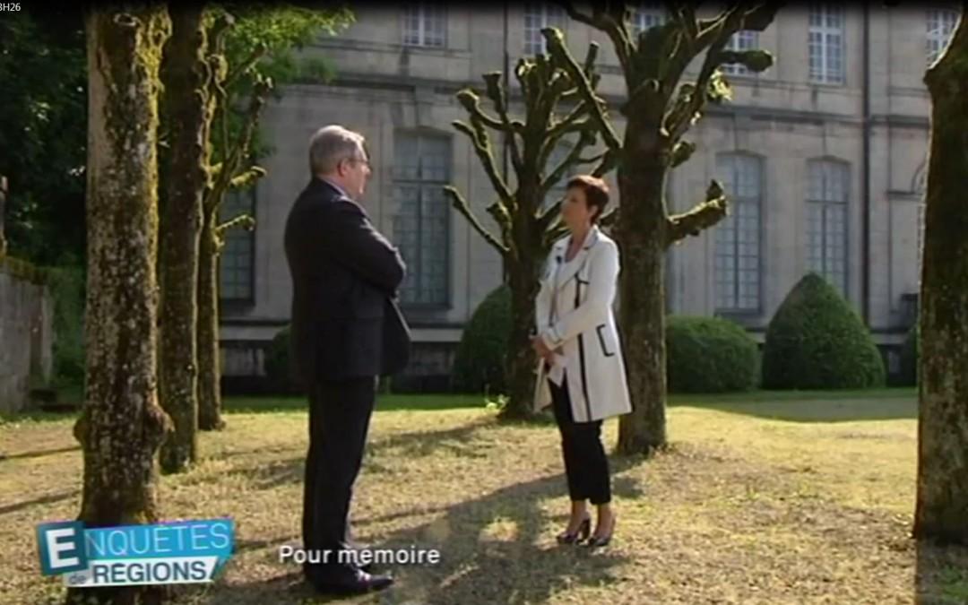 France 3 Lorraine soir 3 – Enquêtes de Régions – le 25/05/2016  Jean-Luc Demandre, président de l'Association Connaissance de la Meuse.