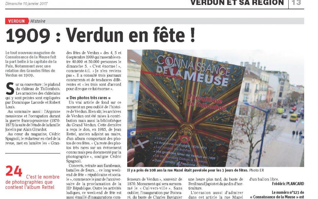 Lire l'article Est Républicain du 15 janvier 2017 – Verdun en fête !