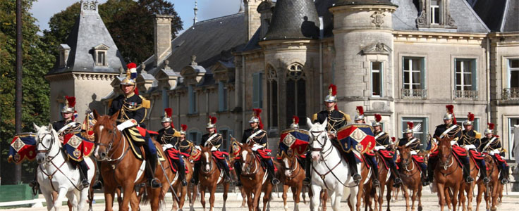 La Garde Républicaine et Hasta Luego au château de Thillombois, Meuse