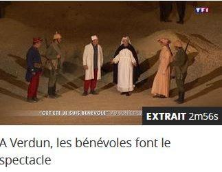 Reportage sur TF1 jeudi 20 juillet à 20 heures, «Des flammes à la lumière» Verdun
