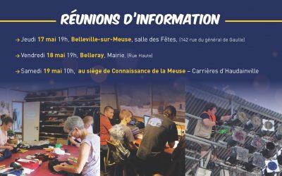 Réunions d'information les 17, 18 et 19 mai prochain
