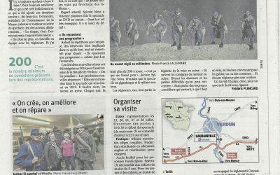 Revue de Presse du 12 juillet «Son et Lumière Verdun… avec toujours le même soucis du détail dans la mise en scène…»