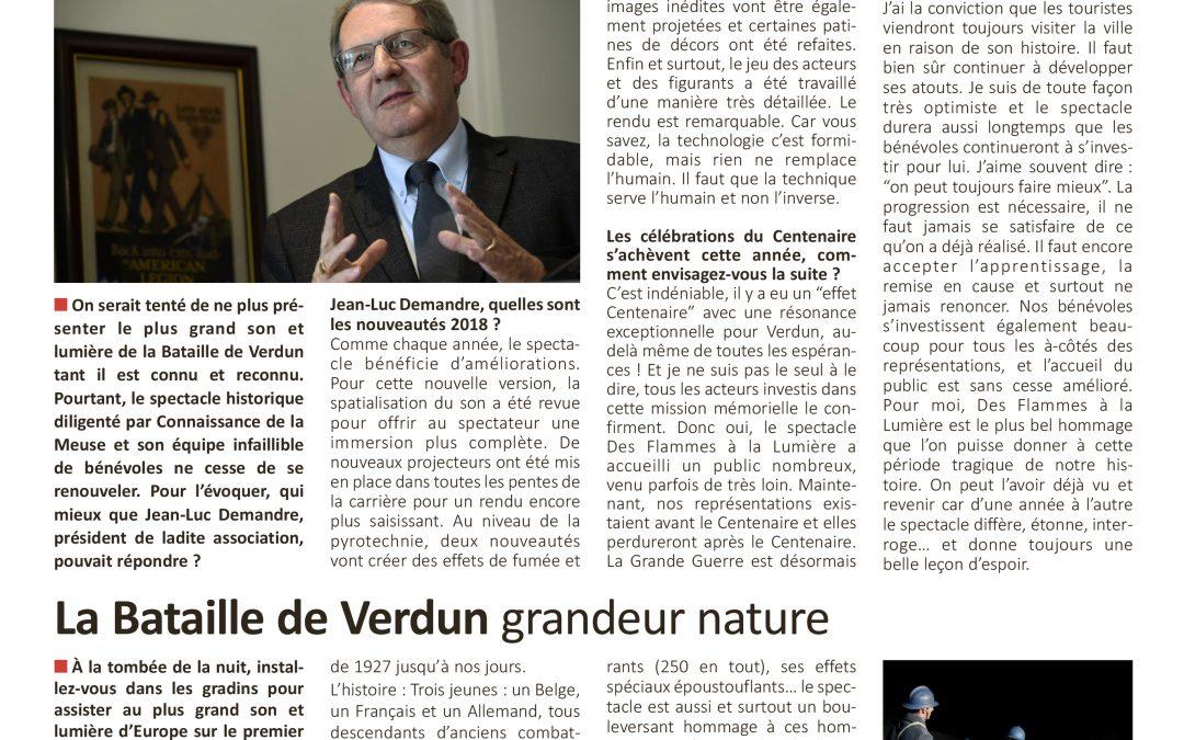 Article de presse 55 mag du 2 juin 2018 «la bataille de Verdun grandeur nature»