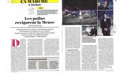 ça marche à Verdun, reportage PELERIN du 14 juin 2018. «Les Poilus revigorent la Meuse»