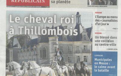 La 4è Biennale Equestre 2019 au château de Thillombois s'est terminé après 4 représentations dont un spectacle avec 3 100 scolaires.