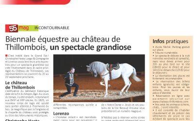 55 MAG incontournable «Spectacle Equestre Château de Thillombois 2019»