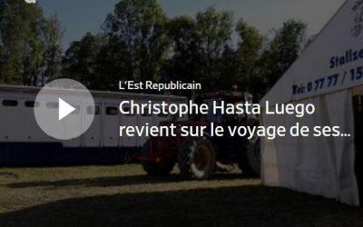 Christophe Hasta Luego revient sur le voyage de ses chevaux avant la Biennale équestre de Thillombois