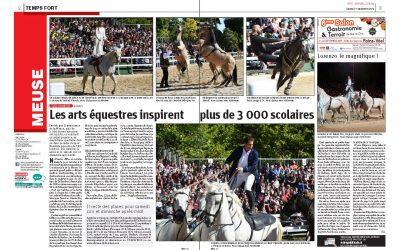 Invités par Connaissance de la Meuse plus de 3 000 élèves meusiens ont assisté au spectacle