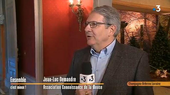 M. Jean-Luc Demandre, président de Connaissance de la Meuse, reçoit l'équipe de l'émission «Ensemble c'est mieux ! » au château de Thillombois – Reportage vidéo
