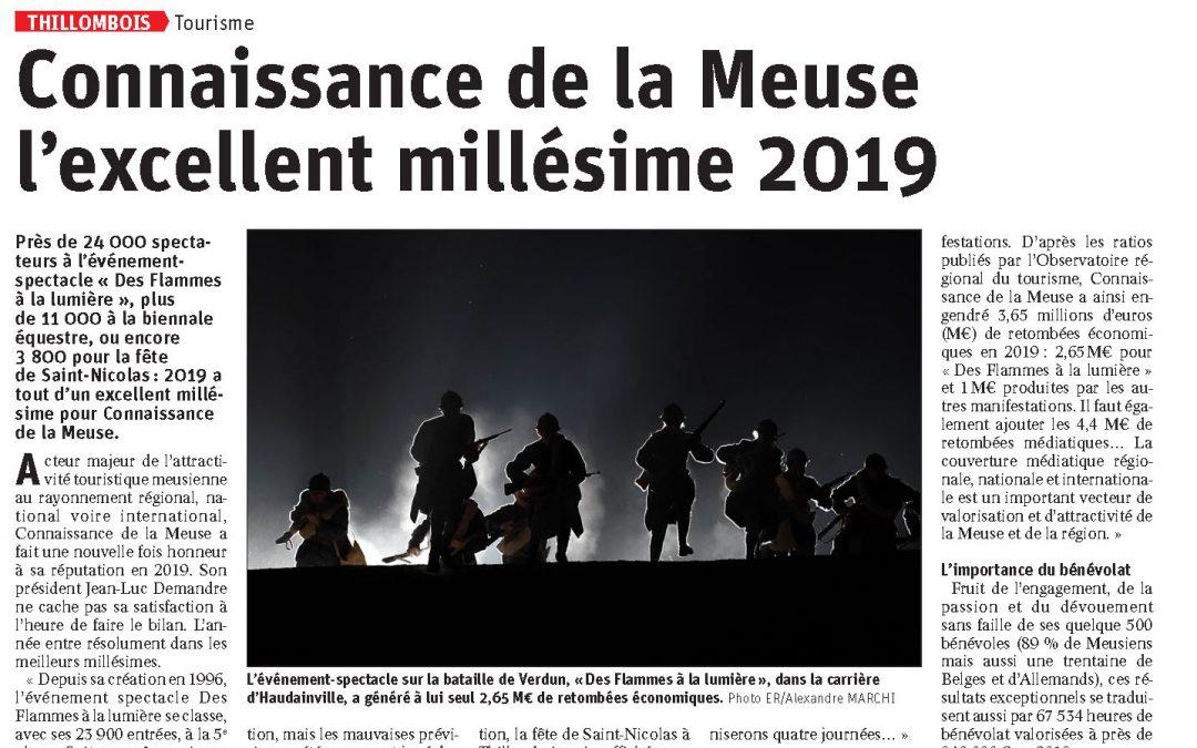 Connaissance de la Meuse l'excellent millésime 2019