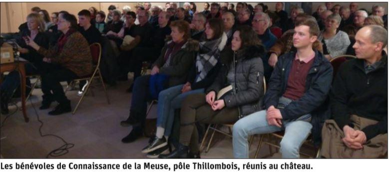 Les bénévoles de Connaissance de la Meuse réunis au château pour le bilan des activités 2019