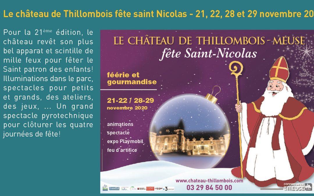 Le château de Thillombois fête saint Nicolas – 21, 22, 28 et 29 novembre 2020