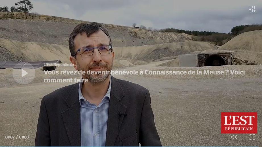 VIDEO DAILYMOTION du 6 mars 2020 (1mn08) Thibaut Villemin Vice-président Connaissance de la Meuse