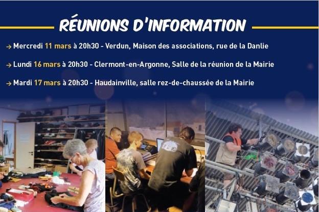Dates des réunions d'information – recrutement bénévoles «Des Flammes à la Lumière» 2020