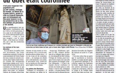Le 4 juillet 1920, Notre-Dame du Guet était couronnée à Bar-Le-Duc (lire l'article Est Républicain du 20 sept 2020)