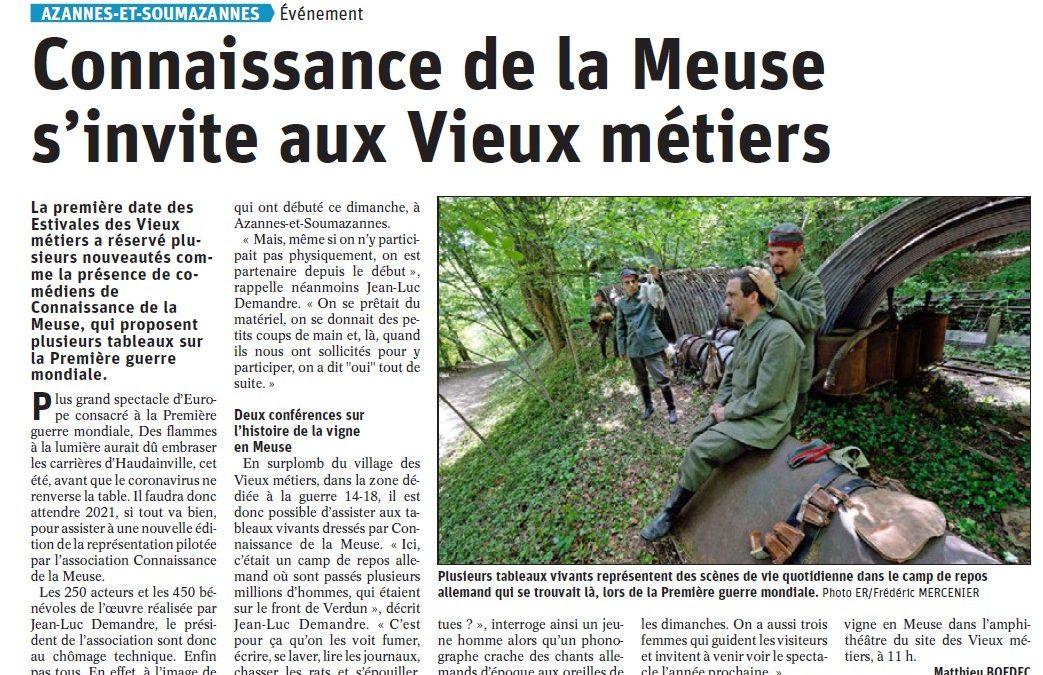 Connaissance de la Meuse s'invite aux vieux métiers