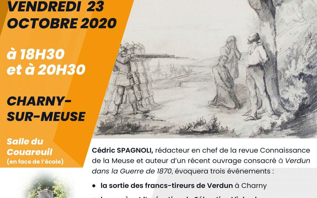 Conférence de Cédric Spagnoli, vendredi 23 octobre 2020 à 18h30 et à 20h30