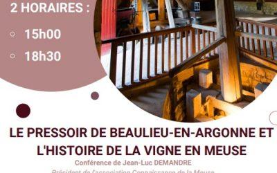 Conférence Beaulieu-en-Argonne samedi 3 octobre 2020
