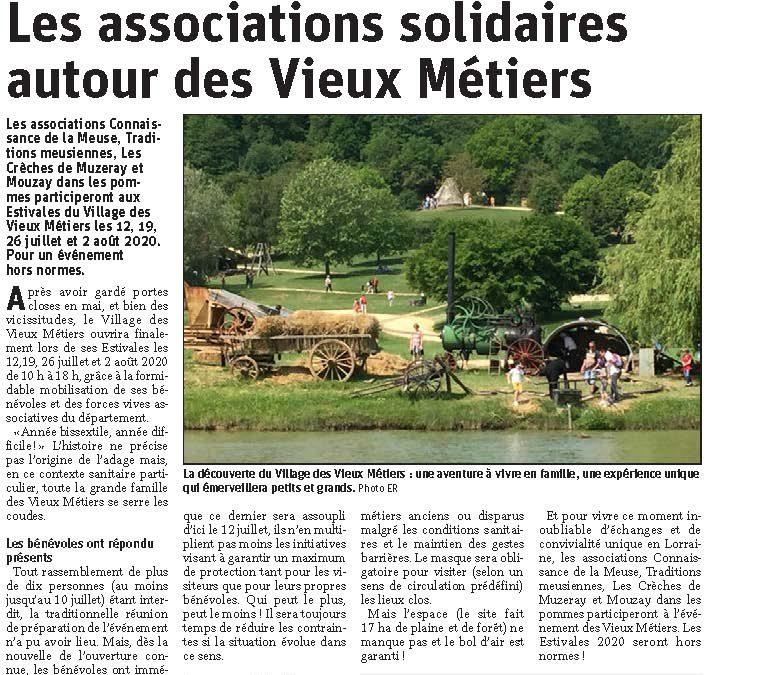 Les associations solidaires autour des Vieux Métiers