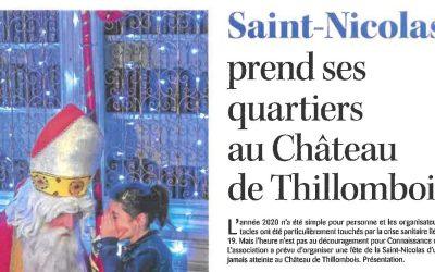Saint-Nicolas prend ses quartiers au château de Thillombois