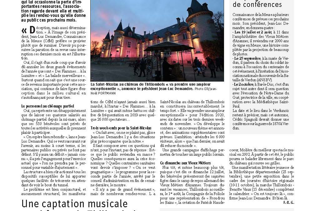 Un rebond d'activités attendu pour Connaissance de la Meuse