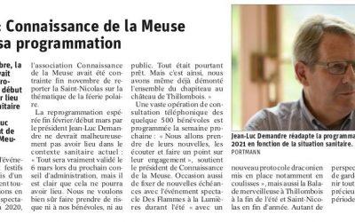 Connaissance de la Meuse réadapte sa programmation en 2021