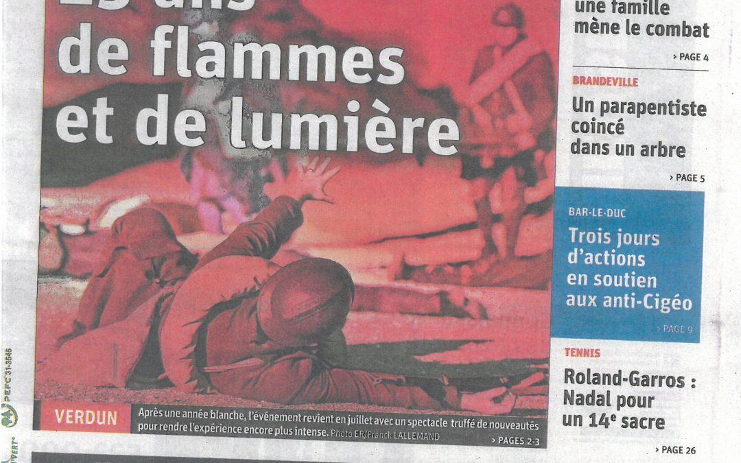 25 ans de flammes et de lumière ! L'événement-spectacle  Des Flammes à la lumière sera joué sur huit dates au mois de juillet.  Un spectacle d'1 h 20 truffé de nouveautés pour rendre l'expérience encore plus intense.
