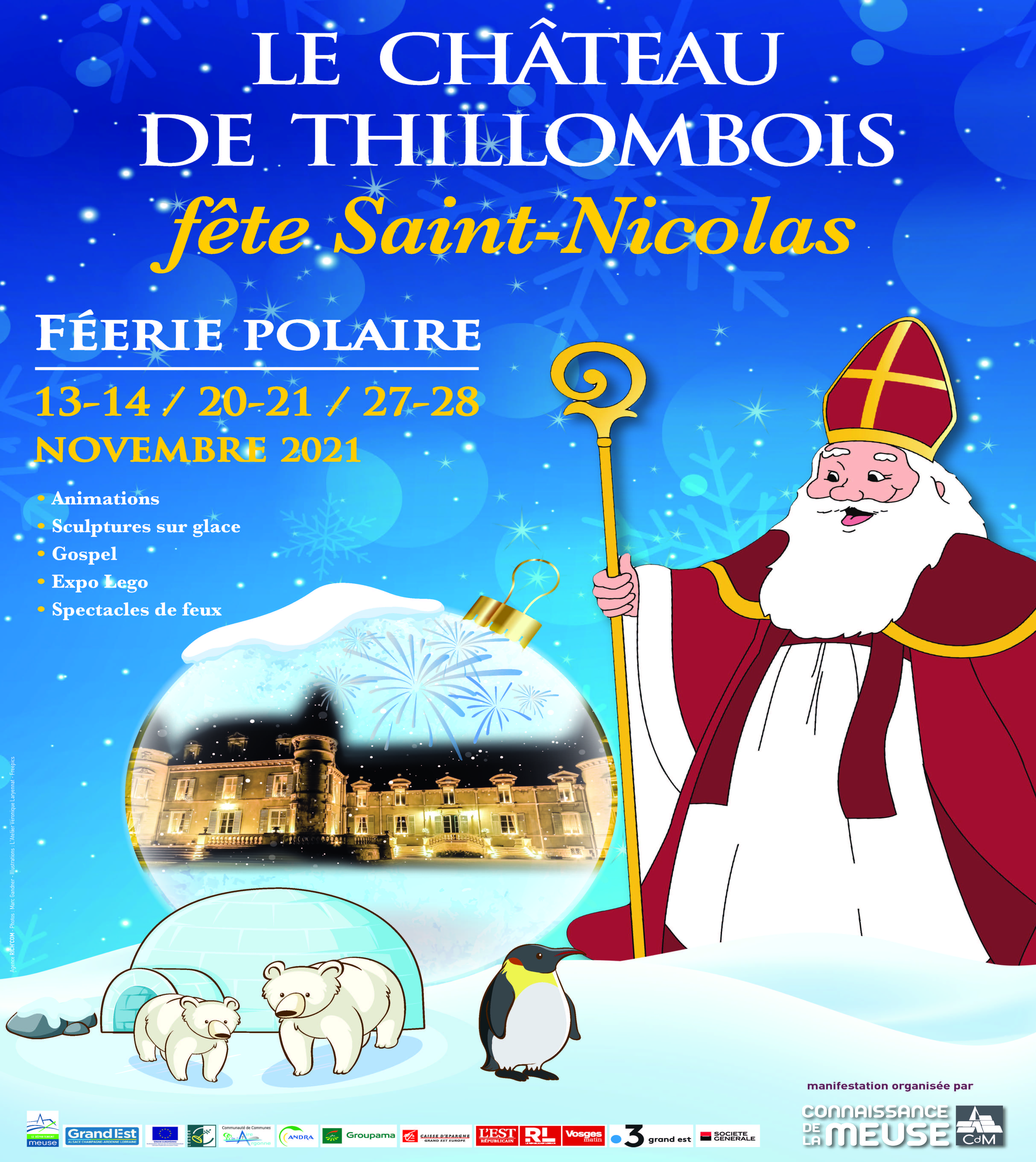 St Nicolas en novembre 2021 au château de Thillombois