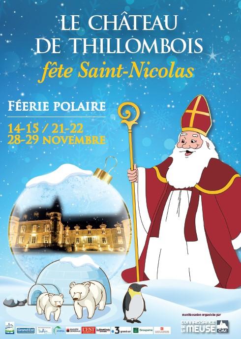 château de Thillombois fête St Nicolas du 14 au 29 novembre 2020